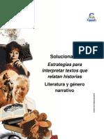 Solucionario Clase 20 Estrategias para interpretar textos que relatan historias 2016 CES.pdf