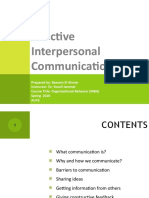 Effective Interpersonal Communication