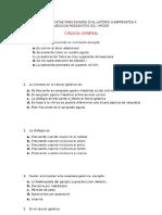 ⭐CIRUGÍA GENERAL BANCO DE PREGUNTAS PARA EXAMEN EVALUATORIO A ASPIRANTES A MÉDICOS RESIDENTES DEL HPGDR_