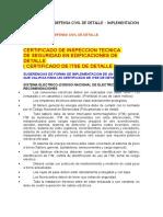 Certificado de Defensa Civil de Detalle