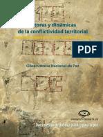 Actores y dinámicas de la conflictividad  territorial