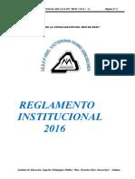REGLAMENTO INSTITUCIONAL 2016