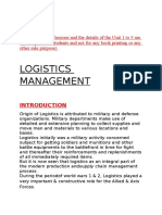 LOGISTICS management.docx