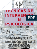 tecnicas intervencion psicologicas