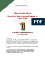 Historia Del Libro Desde Antiguedad Hasta Imprenta