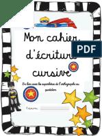 Cahier d%27%C3%A9criture Cursive - Police Isabelle