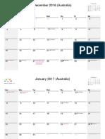 New Australia December 2016 - November 2017