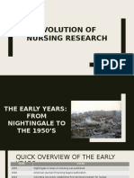 Evolution of Nursing Research