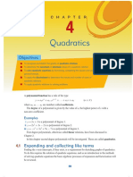 Quadratics Ch 4