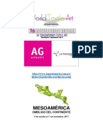 Convocatoria Para Exhibición Artes Visuales, Mesoamérica, Ombligo Del Continente