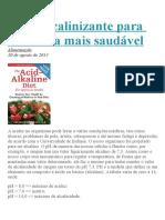 Dieta Alcalinizante Para Uma Vida Mais Saudável