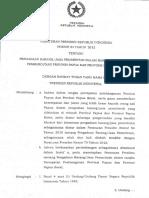 PERPRES 84 TAHUN 2012 Tentang PBJ Khusus Papua Dan Papua Barat