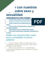 Hablar Con Nuestros Hijos Sobre Sexo y Sexualidad