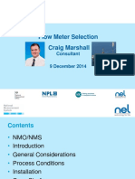 Flow Meter Selection-Craig Marshall