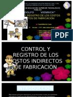 control y registros de los costos indirectos de fabricacion