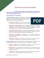 La Organización y Entorno de Las Empresa