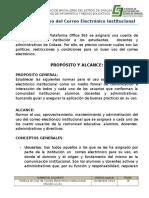 Política en Uso de Correo Electrónico Institucional (PUCEI) v1.03