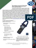Hoja Datos Medidor Potencia Pce Ut232