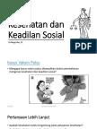 Kesehatan Dan Keadilan Sosial In