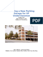 proposal - building a new parking garage for uf underclassmen