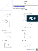 Worksheet - Right Triangles