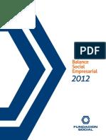 Fundación Social - Balance Social e Informe de Labores 2012