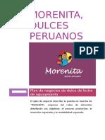"Plan de Marketing Operativo - Empresa ""Morenita - dulces tradicionales"""