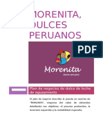 "Plan de Marketing Operativo - Empresa ""Morenita - dulces tradicionales"""