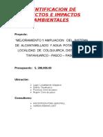 Identificacion de Aspectos e Impactos Ambientales Final