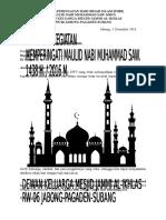 Contoh Proposal Permohonan Dana Phbi Maulid Nabi Muhammad Saw