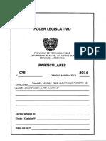 Ultima Presentación Reforma Constitucional Por Malvinas (PDF Legislatura)