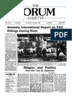 The Forum Gazette Vol. 3 No. 2 January 20-February 4, 1988