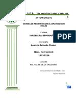 Anteproyecto Sistema de Registro de Diplomado de Inglés