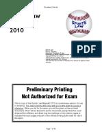 Sports Law Wypadki 2010 Preliminary Printing