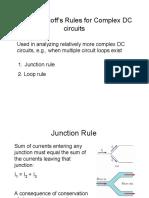 Kirchoff rule