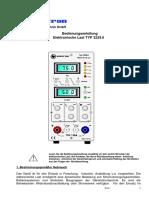 Statron Elektronische Last Typ 3229