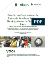 1a Estudio de Caracterizacion Fisica de Residuos Solidos Municipales en La Ciudad de Piura