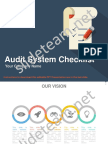 Audit of Business Systems With Checklist Powerpoint Presentation Slides