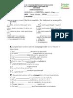 Examen Ingles III - 3er Parcial