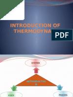 Intro Thermodynamics