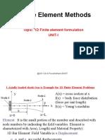 FEM Unit-1 1D_Element