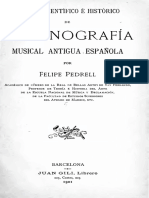 PEDRELL, Felipe. - Emporio científico e histórico de organografía musical antigua española