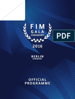 FIM Gala Ceremony Official Programme
