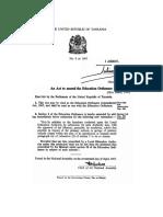 The Education Ordinance (Amendment) Act, 9-1967