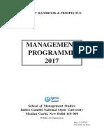 IGNOU MBA Hanbook Pro SOM 2017