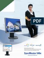 Monitor Samsung Syncmaster 540n Manual