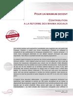 """Terra Nova propose de remplacer les minimas sociaux par un """"minimum décent"""" de 750 euros"""