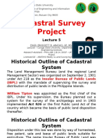 Lecture 5 Cadastral Survey Project