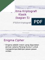Materi 4 Kriptografi Klasik (Pembahasan Enigma)