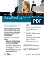 Advanced Recruitment Apprentice